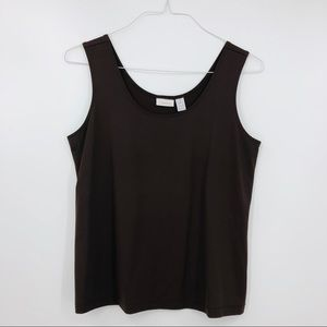 Chico's Brown Knit Stretch Sleeveless Top